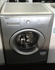 O387 silver beko 8kg 1200spin A+ rated washing machine comes with warranty can be delivered