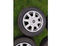 Mini cooper alloy wheels. Good condition