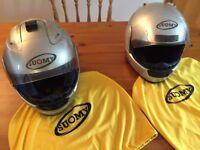 Motorcycle helmets x 2