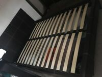 Kingsize faux leather bed frame