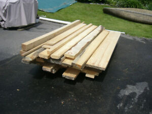 """50 Well-Dried Rough Cut 2"""" Red & White Pine Lumber Boards"""