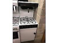 WHITE/BROWN EYELEVEL 55CM GAS COOKER BIRMINGHAM