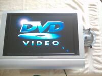 19 inch LCD TV with built in DVD player (plus indoor electric TV aerial)