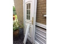 White UPVC door. Excellent condition. Locks, Furniture and Cill included.