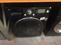 LG 11KG WASHING MACHINE BLACK RECONDITIONED