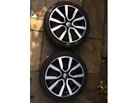 "VW Golf GTI GTE Seron 18"" Alloys x 2 with Tyres Pirelli 7MM"