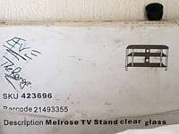 Glass TV Stand/Unit NEW boxed