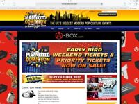 2 x early bird weekend entry passes to MCM comic Con London - October 27th - 29th