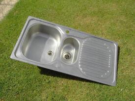 Franke 'Bowl & a Half' Stainless Steel Kitchen Sink