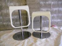 2 white kitchen bar stools from Ikea