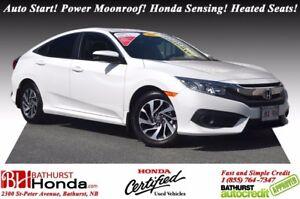 2017 Honda Civic Sedan EX Auto Start! Power Moonroof! Honda Sens