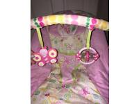 Pink bright starts bouncer