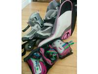 Rollerblades size 12-2. Bag and protectors