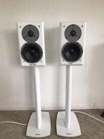 Dynaudio Emit M10's with Dynaudio 3X stands and Chord Odyssey 2 speaker cables
