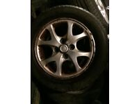X4 Toyota Yaris alloy wheels and tyres