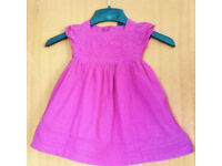 Baby Gap Baby Girl's Pink Broderie Anglais Summer Dress.Age 18-24 Months.
