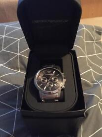 Brand new silver Armani watch for sale