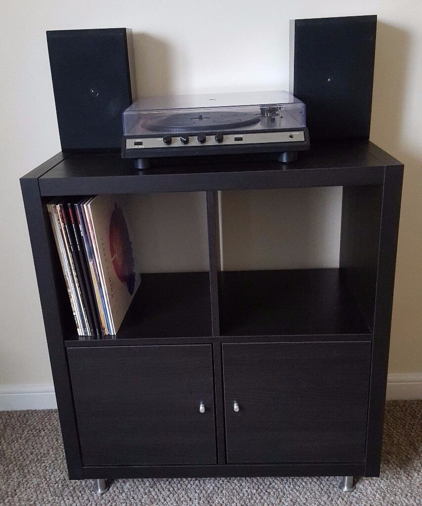 Black record player turntable stand / Display unit / Cupboard