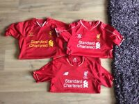 3 Liverpool football shirts xlb