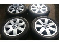 GENUINE 20 L322 VOGUE ALLOY WHEELS SPORT ETC VW T5 TRANSPORTER MATCHING 6MM TYRE