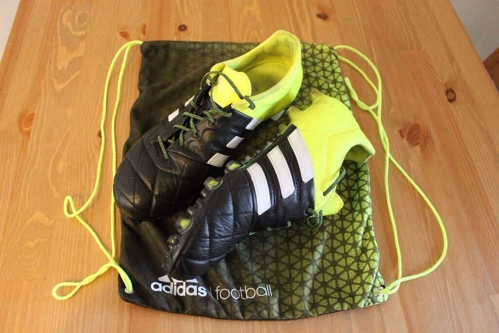 adidas ACE 15.1 FG AG Leather Football Boots Size UK 9.5 - core black   9f874869f