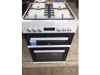 Beko Oven 60cm double oven dual fuel cooker KDDF653