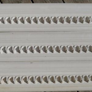 4 Dentil mouldings (r. $27.46+), 1 Metal door threshold