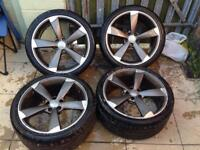 """AUDI ROTOR 19"""" WHEELS AND TYRES"""