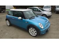 mini cooper s 2003-03-plate, 1600cc supercharged, only 91,000 miles, new mot on purchase,