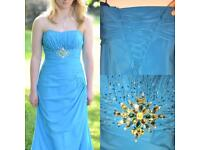 Size 8/10 blue prom/pageant/bridesmaid dress