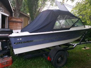 1978 Silverline hi-low with 60hp Merc and trailer