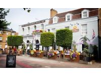 Commi Chef and CDP for friendly team at the Coach and Horses Hotel, Kew