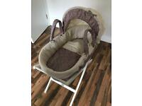 Mamas & Papas Liberty print Moses basket and sleeping bag
