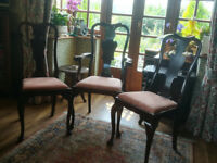 Set of six Edwardian dinng chairs.