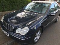 Mercedes C320 Avantgarde 3199cc Petrol Automatic 4 door saloon Y Reg 21/06/2001 Blue