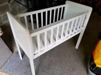 White babys crib