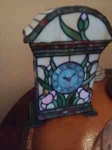 Old stained glass clock perfect condition.