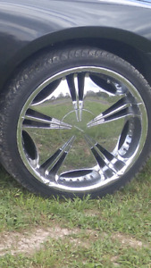 """22"""" Chrome rims trade for a toy or vehicle"""