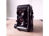 Mamiya C330f Professional EXCELLENT++++ Medium Format TLR Film Camera + 2 Lenses