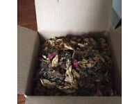 Wedding Confetti - Box of chopped dried herbs and whole pink rose petals