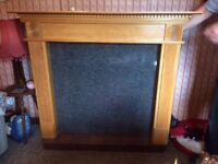Beautiful wooden fireplace for sale