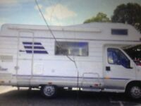 Fiat HYMER tdi Great starter MOTORHOME 6 berth lots of work done on camper over last few years