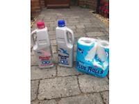 Elsan double pink & double blue anti-bacterial toilet fluid caravan camping
