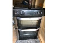 6 months old Belling Double oven gas hob freestanding cooker perfect condition