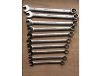 Snap on blue point spanner set