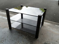 GLASS TV TABLE OR USE AS COFFEE TABLE/ MAG