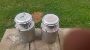 Two Cream Cans for sale