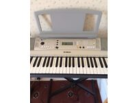 Yamaha PSR E313 Keyboard with power supply, stand, dust cover and box, perfect condition