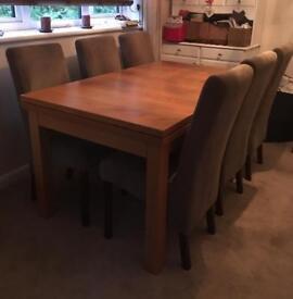 Multiyork Oak Dining table & chairs