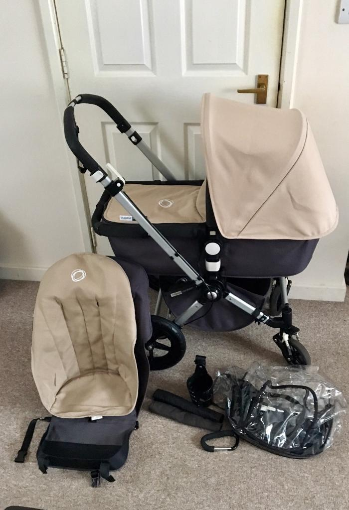 beige charcoal bugaboo cameleon 2 with accesories in leyton london gumtree. Black Bedroom Furniture Sets. Home Design Ideas